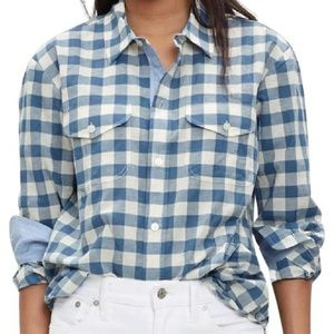 Madewell Button Front Gingham Shirt